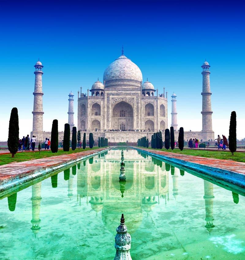 Taj Mahal Palace dans l'Inde, temple indien le Taj Mahal photo stock