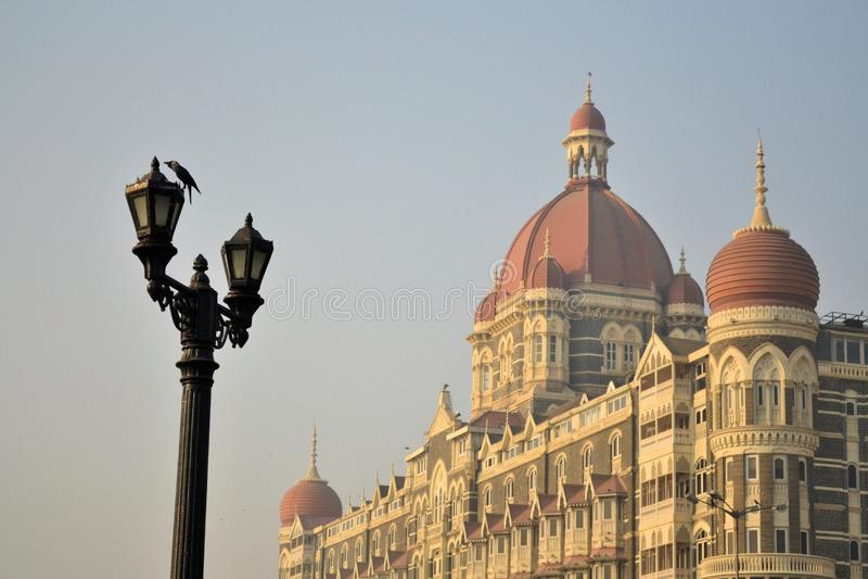 Taj Mahal Palace en Bombay, la India fotos de archivo libres de regalías
