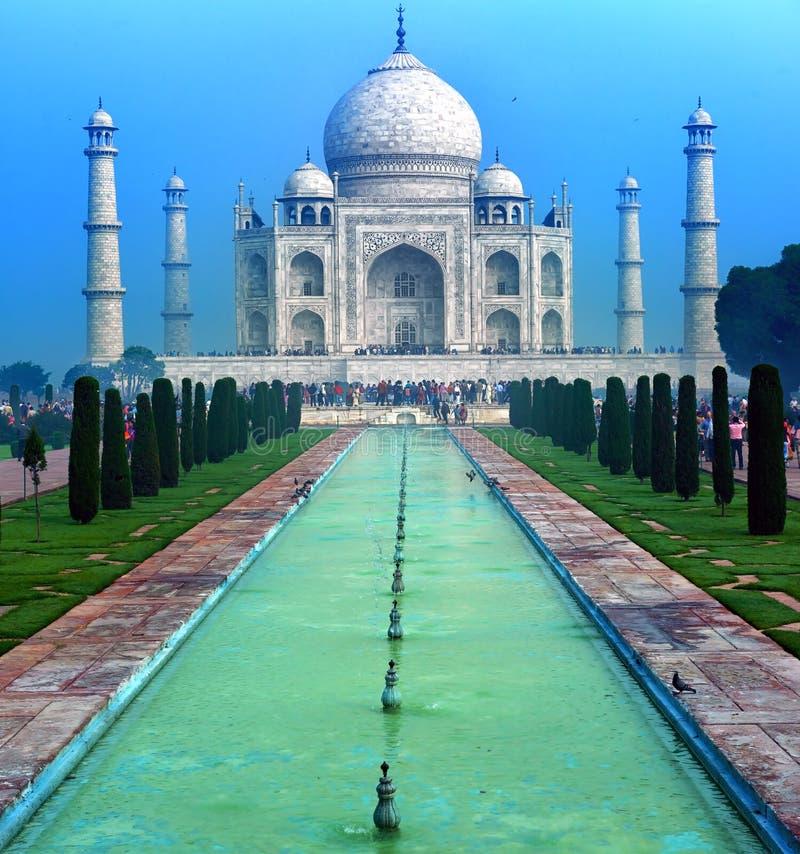 Taj Mahal Palace en la India, templo indio el Taj Mahal imagenes de archivo