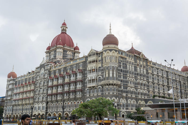 Taj Mahal Palace Hotel in Mumbai royalty-vrije stock fotografie