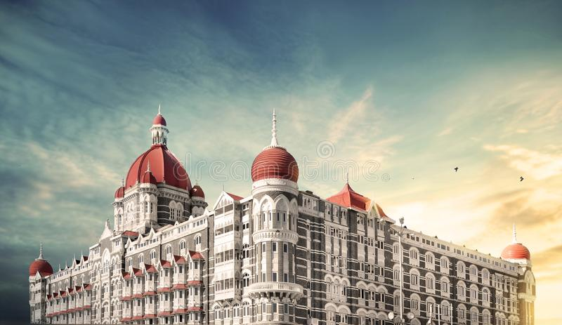 The Taj Mahal Palace Hotel mumbai. The Taj Mahal Palace Hotel, is a heritage, five-star, luxury hotel built in the Saracenic Revival style in the Colaba region royalty free stock photo