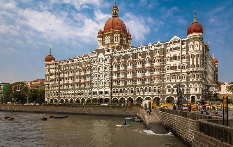 Taj Mahal Palace, Mumbai royaltyfria foton