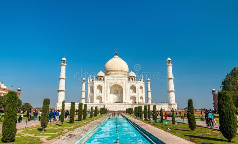 Taj Mahal sławny zabytek India Agra, Uttar - Pradesh zdjęcia royalty free