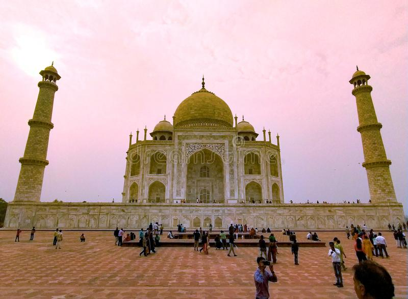 Taj mahal is one of the seven wonders of world royalty free stock images