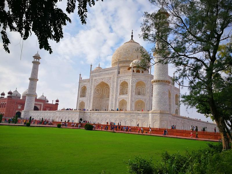 Taj Mahal Side View stockbild