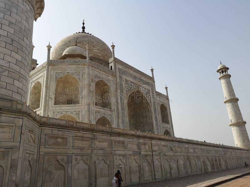 Taj Mahal Side View nel Sun luminoso fotografia stock libera da diritti