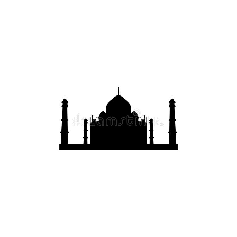 Taj Mahal silhouette icon symbol royalty free illustration