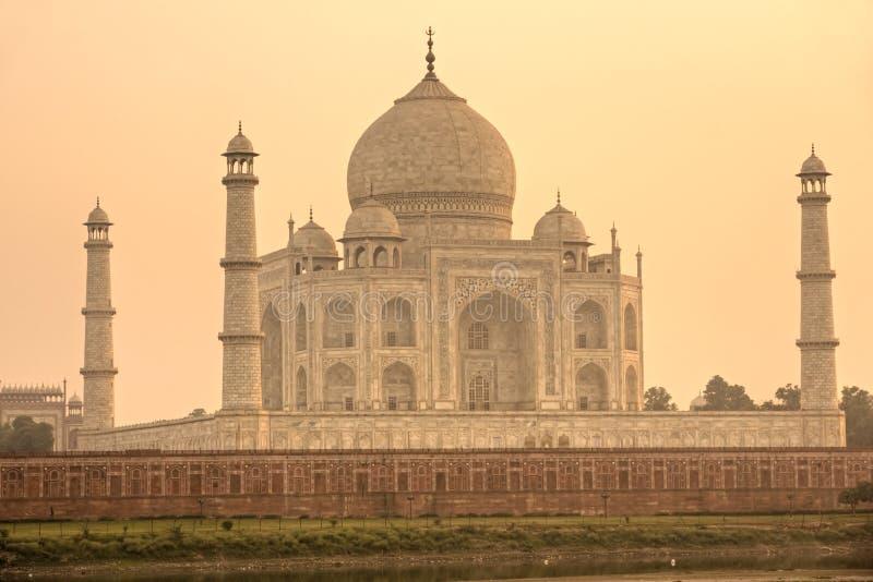 Taj Mahal at sunset, Agra, Uttar Pradesh, India. royalty free stock photos