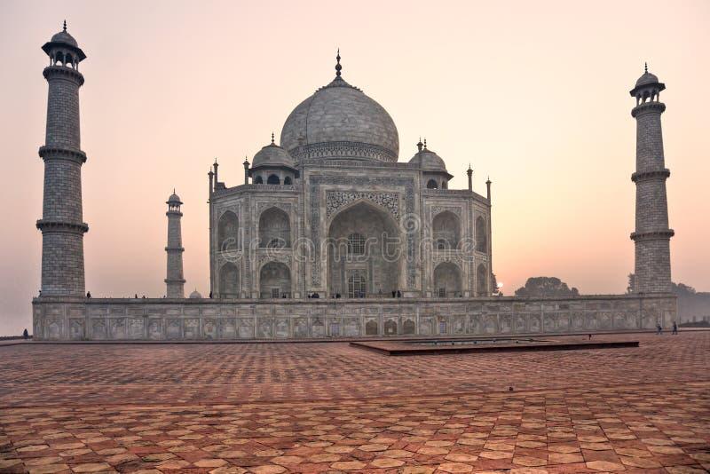 Taj Mahal at sunset, Agra, Uttar Pradesh, India. stock photography