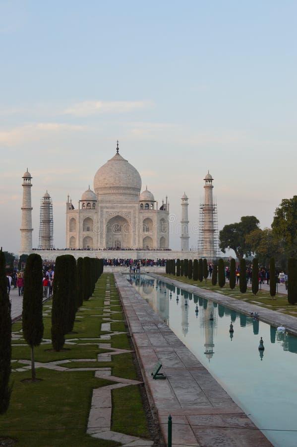Taj Mahal at Sunset royalty free stock photo