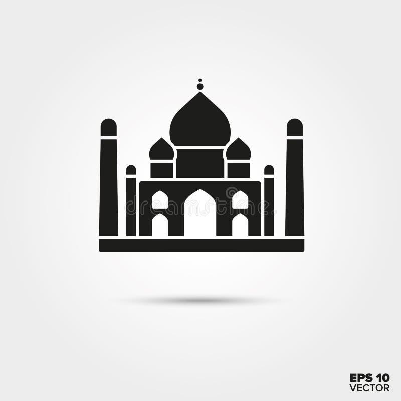 Taj Mahal symbol royaltyfri illustrationer