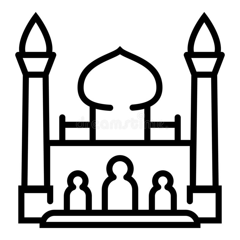 Taj mahal symbol, ?versiktsstil stock illustrationer
