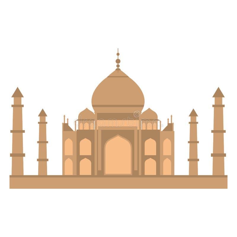 Taj-mahal tempellägenhet vektor illustrationer