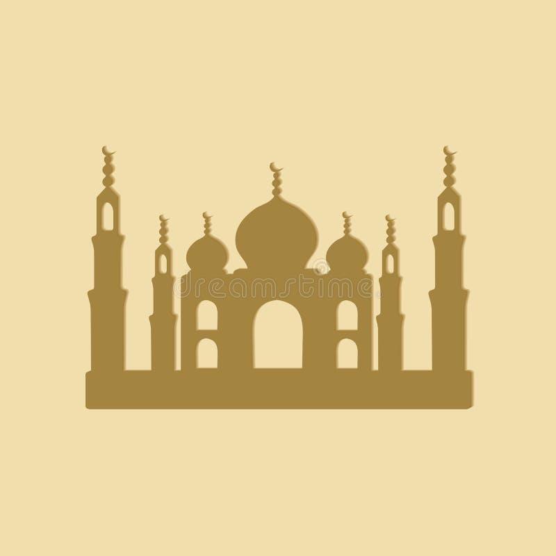 Taj Mahal temple vector illustration
