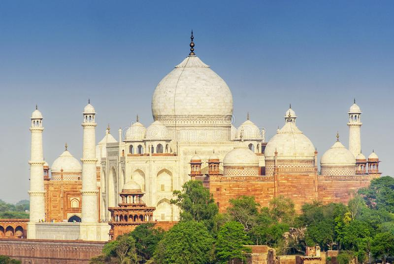 Taj Mahal, una delle meraviglie architettoniche del mondo, Agra, Uttar Pradesh, India immagine stock libera da diritti
