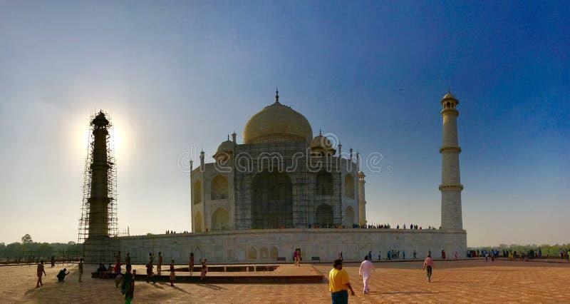 Taj mahal under-konstruktion royaltyfria foton