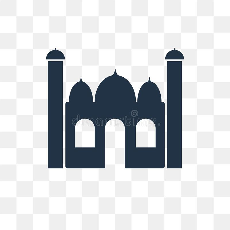 Taj mahal vector icon isolated on transparent background, Taj ma. Hal transparency concept can be used web and mobile royalty free illustration