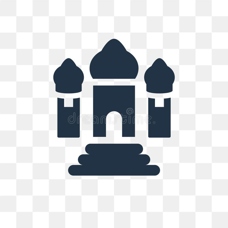 Taj mahal vector icon isolated on transparent background, Taj ma. Hal transparency concept can be used web and mobile vector illustration
