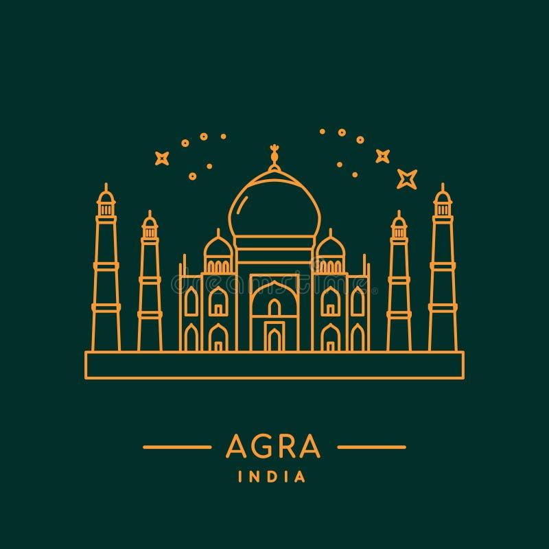 Taj Mahal Vector Illustration royaltyfri illustrationer