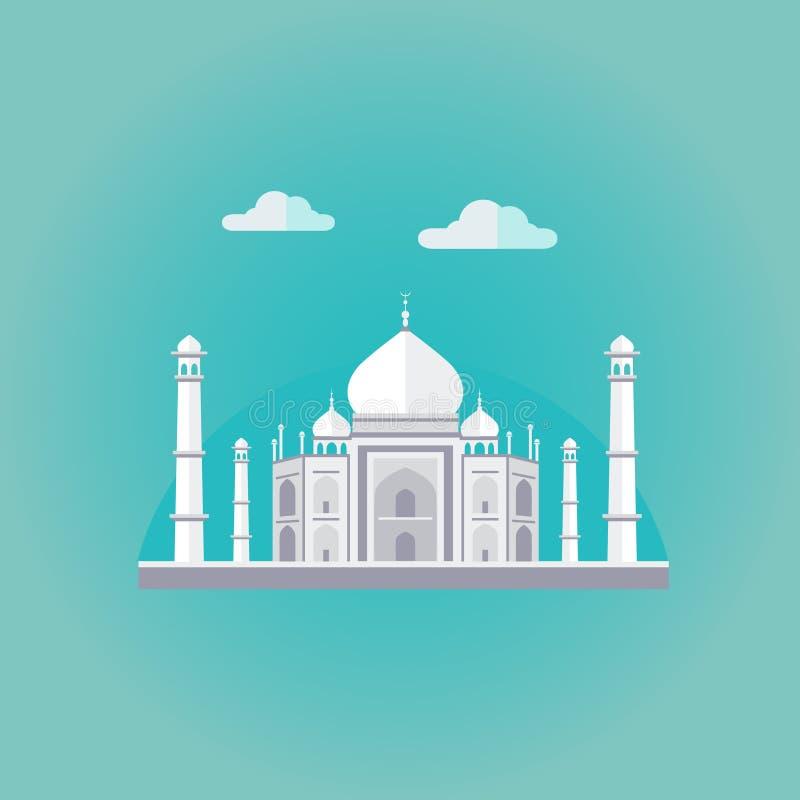 Taj Mahal Vector Illustration royalty-vrije illustratie