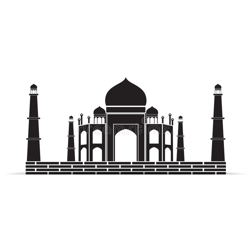 taj mahal vector symbol royalty free illustration