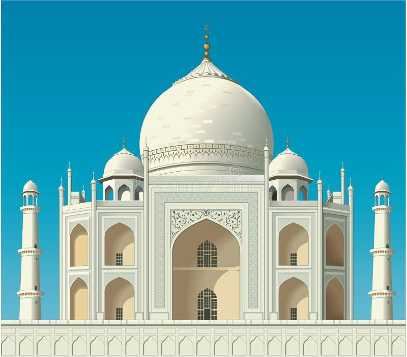 Taj Mahal Vetora Illustration ilustração royalty free