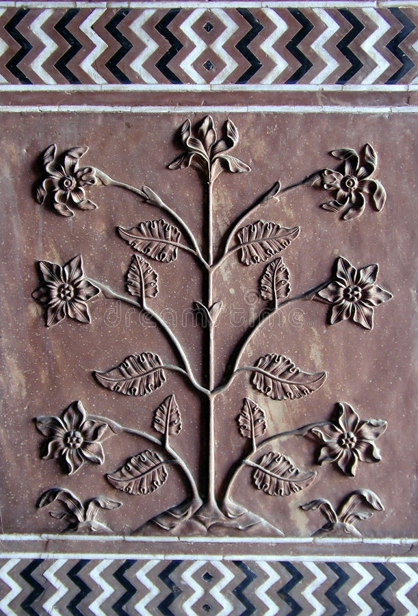 taj mahal w drzewo fotografia royalty free