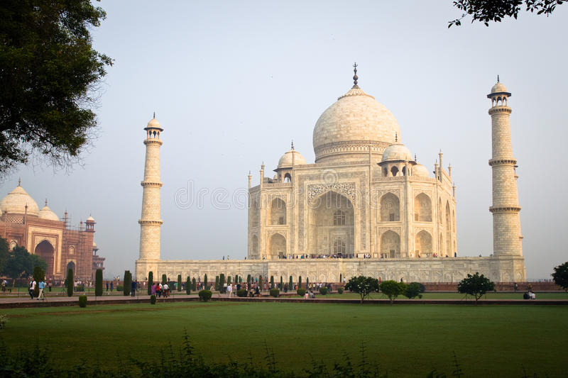 Taj Mahal from the wing stock images