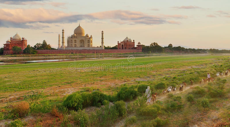 Taj w Agra Mahal, India obrazy royalty free