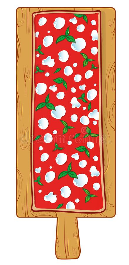 Tajadera con margherita de la pizza libre illustration