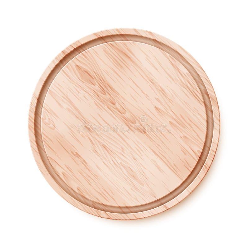 Tajadera de madera. stock de ilustración