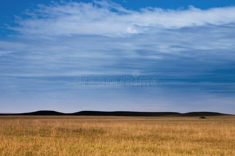 Tajemnic wzgórza w Kansas Tallgrass Preryjnej prezerwie obraz stock
