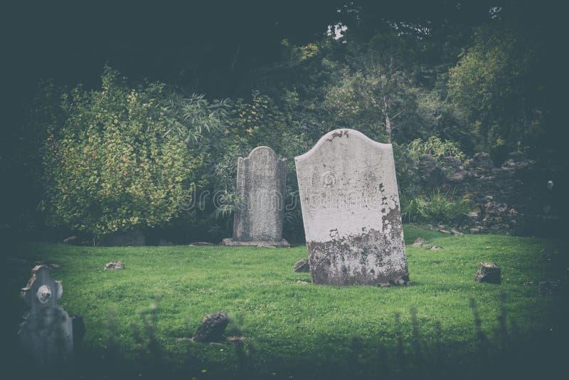 Tajemnica irlandczyka cmentarz zdjęcia royalty free