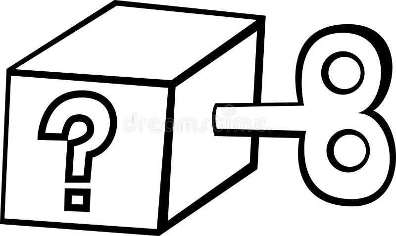 tajemnica pudełkowata royalty ilustracja