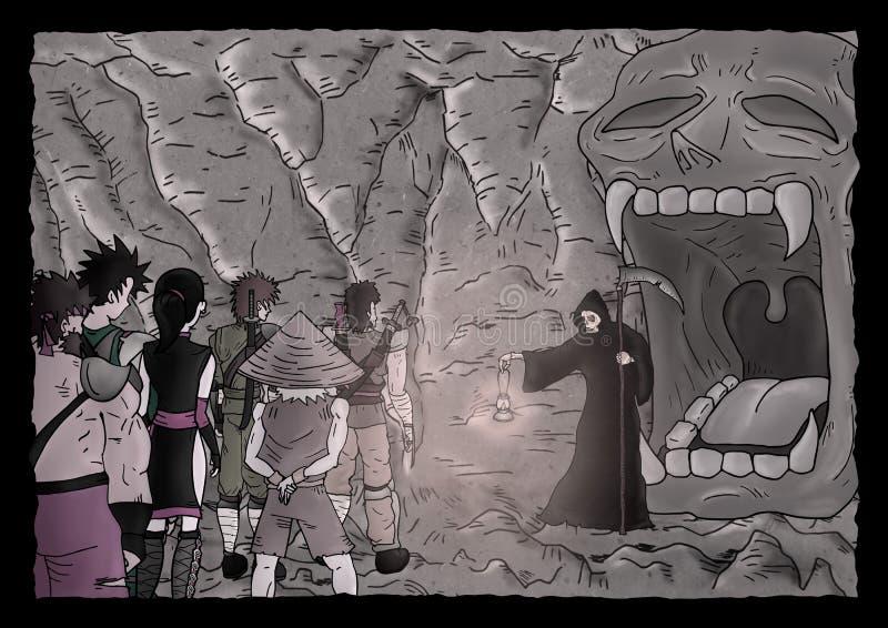 Tajemnicy cavern ilustracja royalty ilustracja