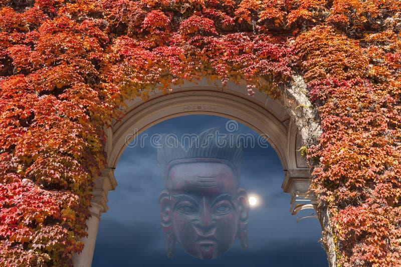 Tajemnicy maska na nocnym niebie fotografia stock