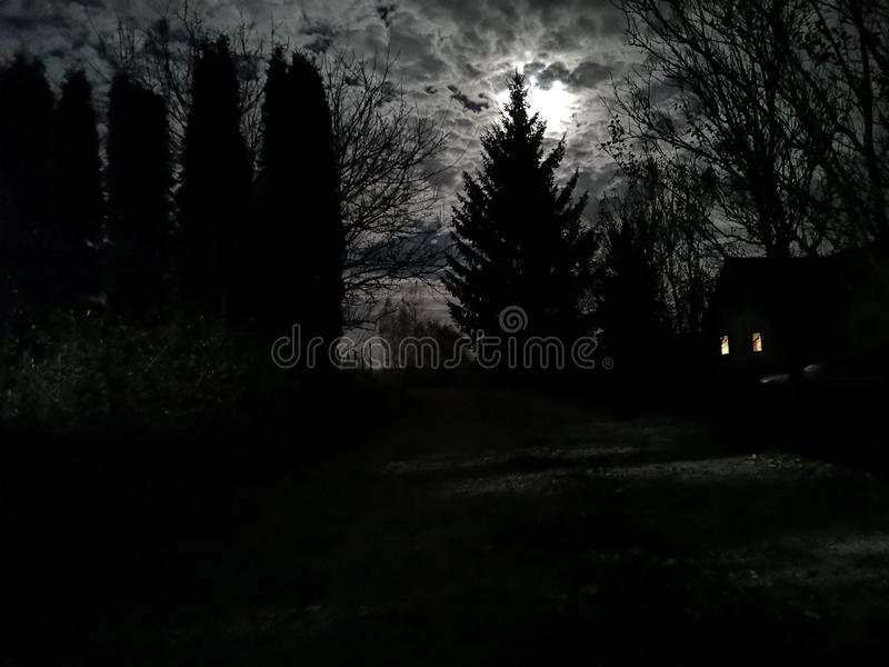 Tajemnicy noc fotografia stock