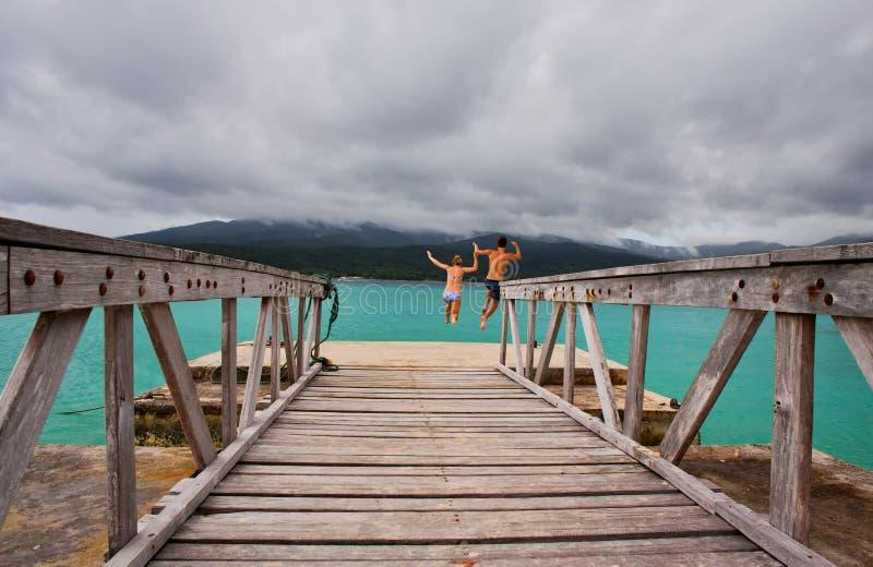 Tajemnicy wyspa zdjęcia stock