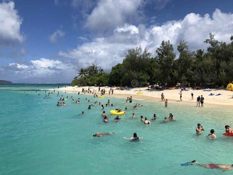 Tajemnicy wyspa obrazy royalty free
