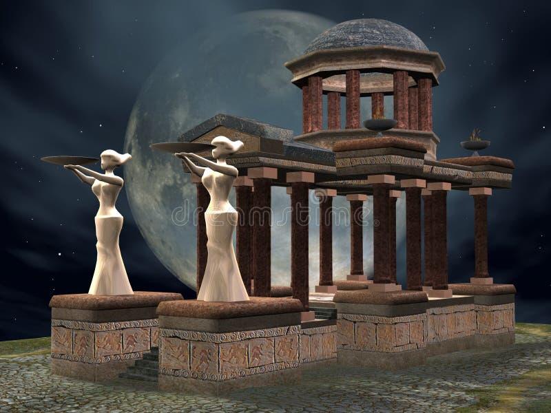 tajemnicza świątyni ilustracji