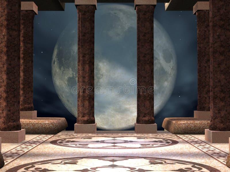 tajemnicza świątyni ilustracja wektor