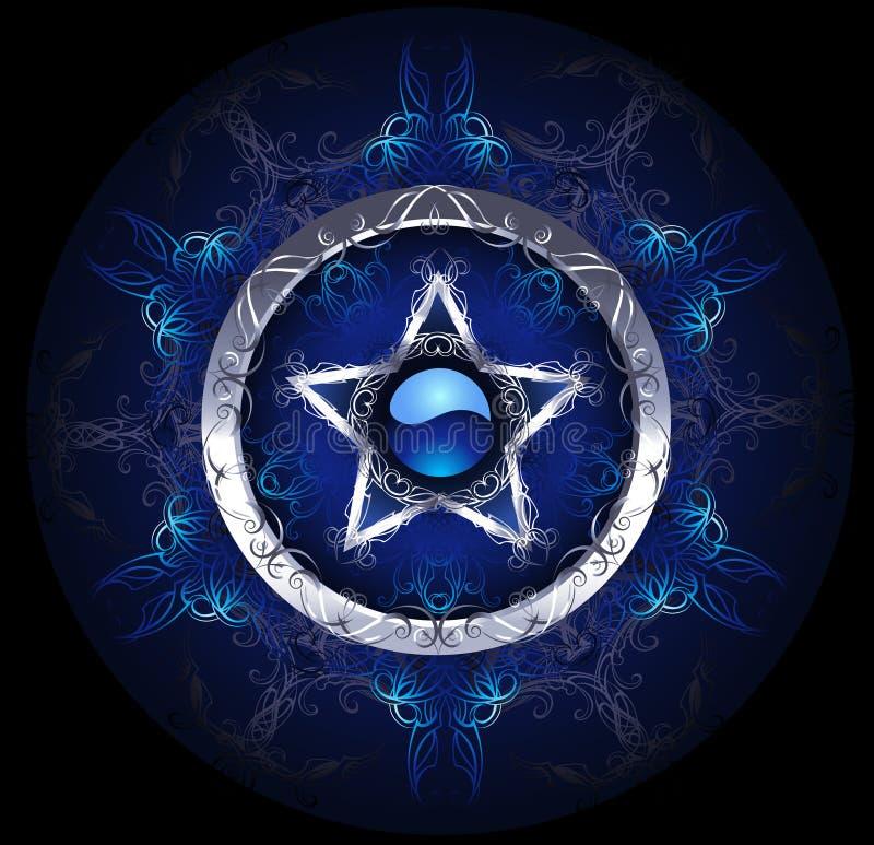 Tajemnicza błękitna gwiazda royalty ilustracja