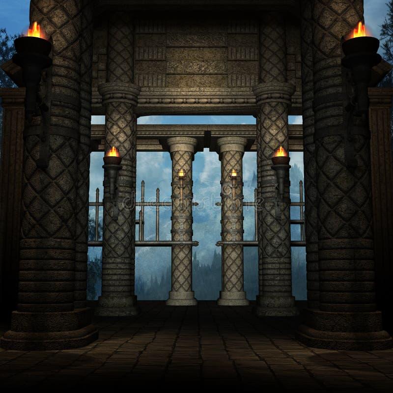 tajemnicze miejsce royalty ilustracja