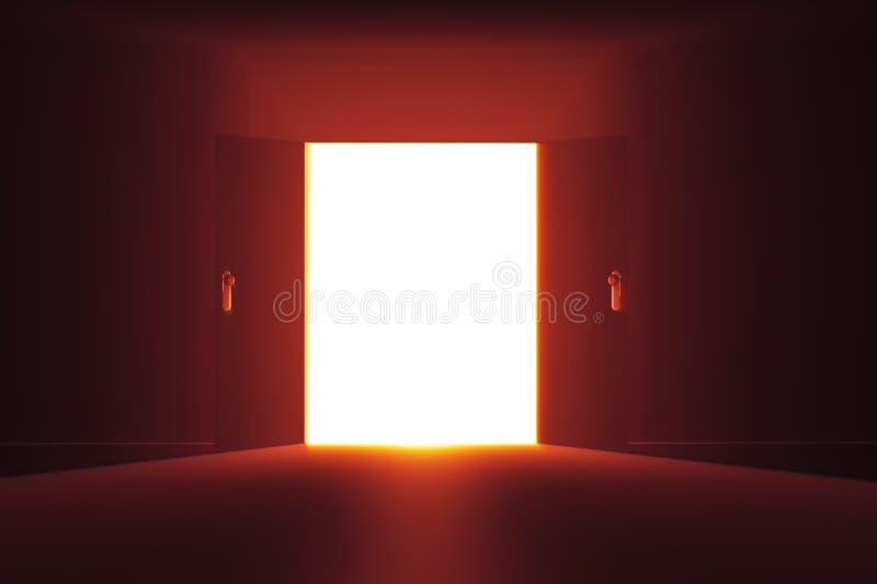 Tajemniczy drzwi 2 HR royalty ilustracja