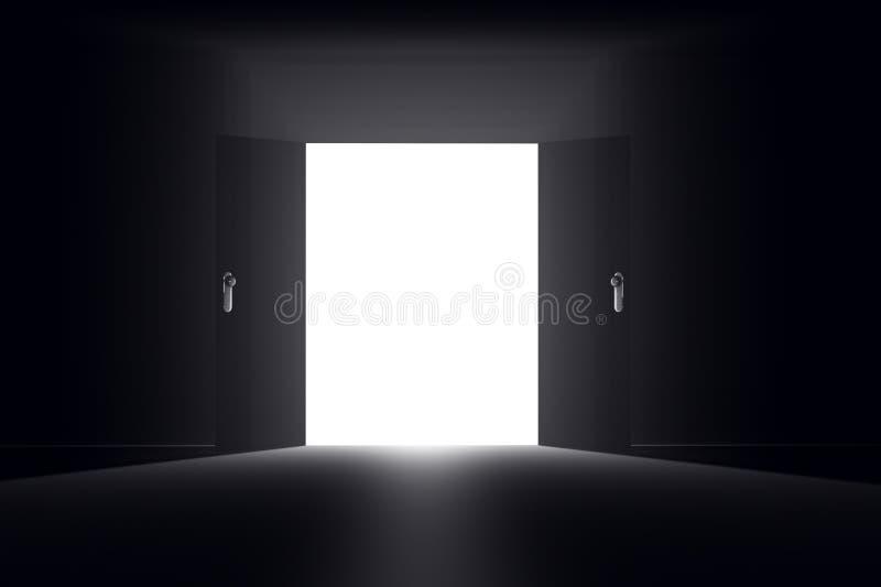 Tajemniczy drzwi 2 HR ilustracja wektor