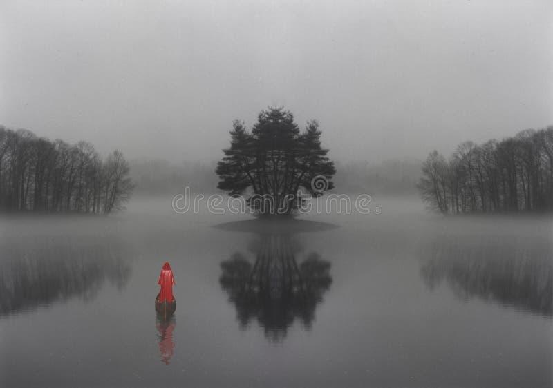 Tajemniczy jezioro obraz royalty free