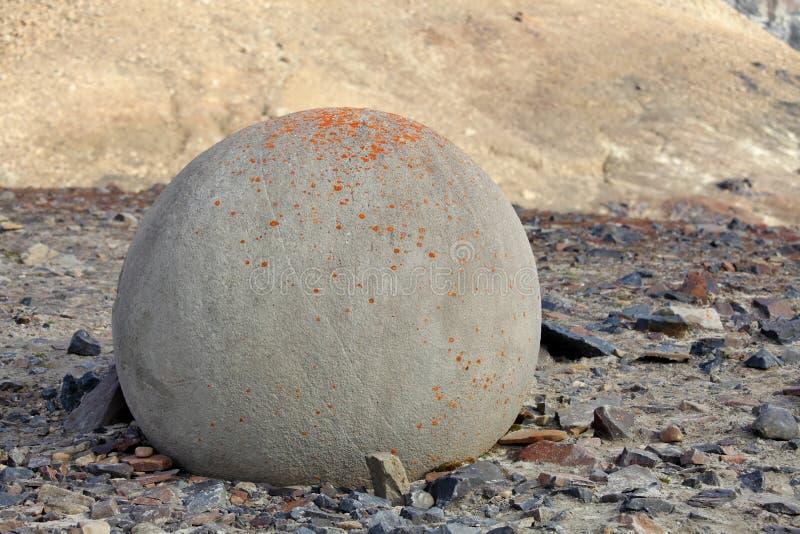 Tajemniczy kamienie czempion wyspa w Arktycznym zdjęcie stock