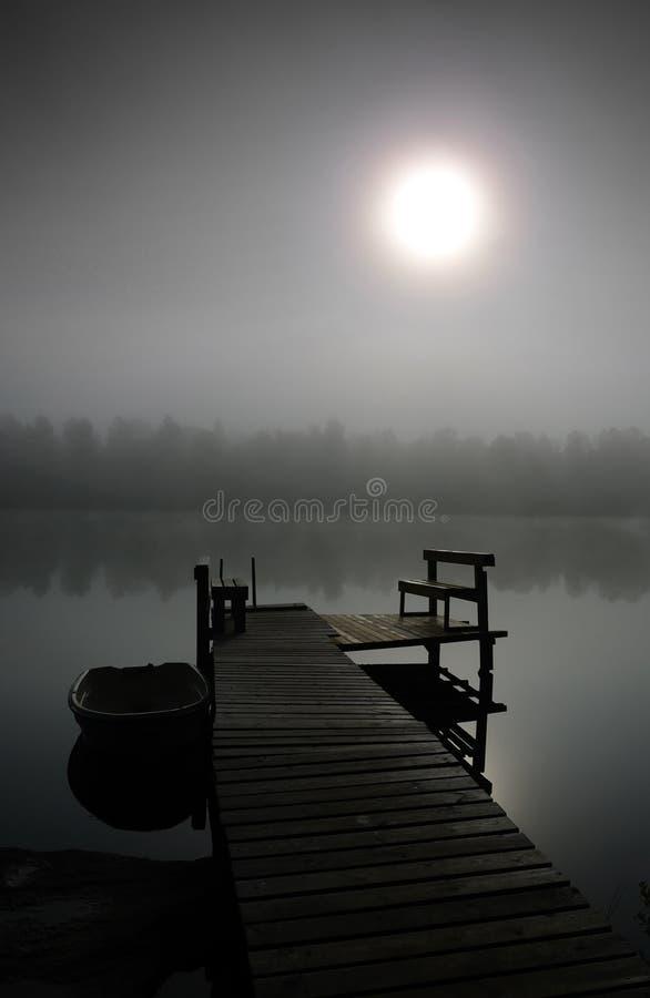 Tajemniczy mgłowy ranek obraz royalty free