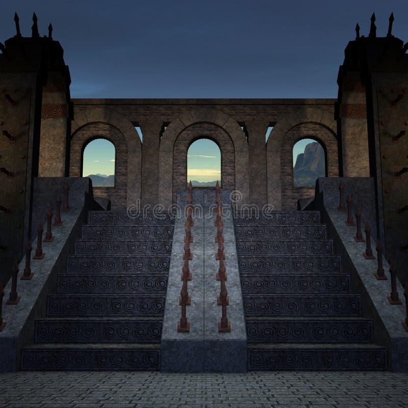 tajemniczy miejsce royalty ilustracja