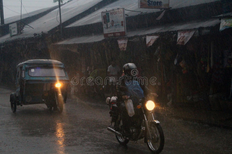 Tajfun Filipiny fotografia royalty free
